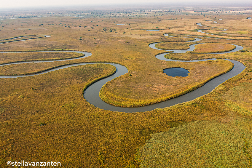 Okavango-delta from the air
